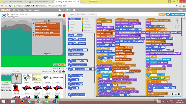 How to make a video game using scratch