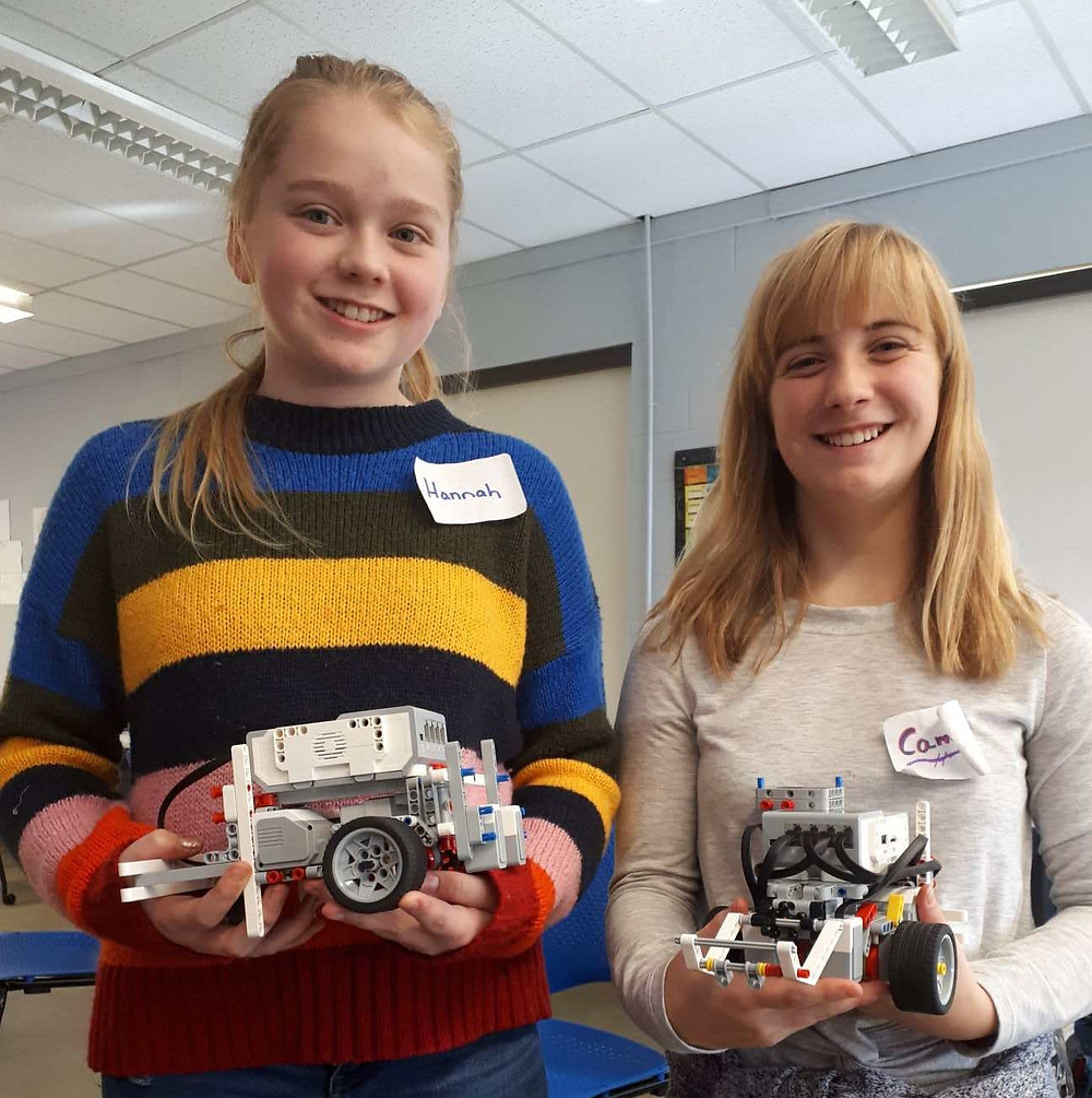 Hannah & Cameron along with their teams from Barnhill Memorial School Saint John, prepare for NB's very first Lego Robotics meet Nov29 at RNS.