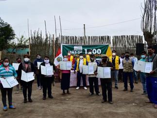 Entregan títulos de propiedad a vecinos de Providencia en Pativilca