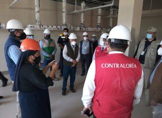 Gobernador y contralor monitorearon construcción del Hospital Regional de Cañete