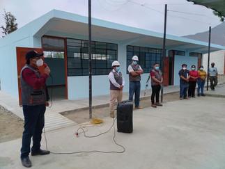 Alcalde de Supe entrega obra de infraestructura a la I.E. N°20980