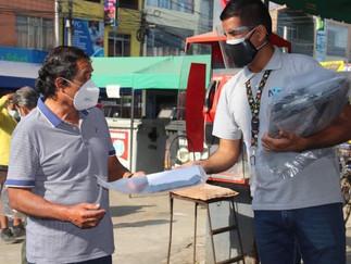 Municipalidad de Barranca entregó protectores faciales