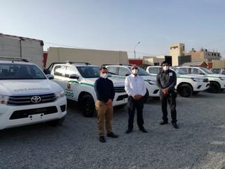 GRL entrega camioneta a la municipalidad de Supe