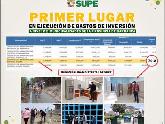 Municipalidad de Supe lidera ejecución de inversión a nivel provincial