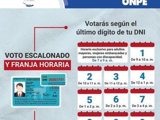 ONPE: Voto escalonado permitirá que se respete el distanciamiento social