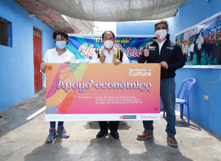 Trabajadores culturales de Huaura reciben ayuda económica para reactivar sus actividades