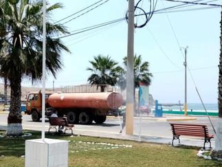 Barranca: Desinfectan espacios públicos del circuito de playas con hipoclorito de sodio