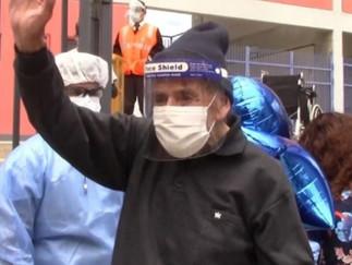 ¡Milagro de Semana Santa! Abuelito de 103 años vence al coronavirus en Huaraz