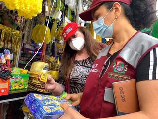 Realizan operativo contra venta ilegal de pirotecnia en Barranca