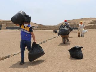 Realizan mantenimiento y limpieza en Zona Arqueológica Monumental Bandurria