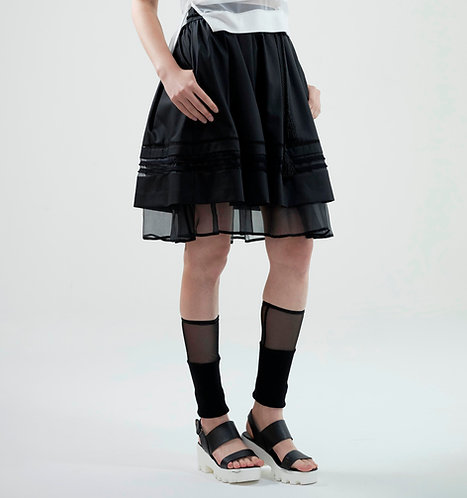 Layered trim skirt