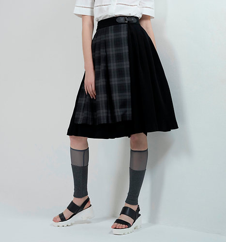 Check-paneled Pants