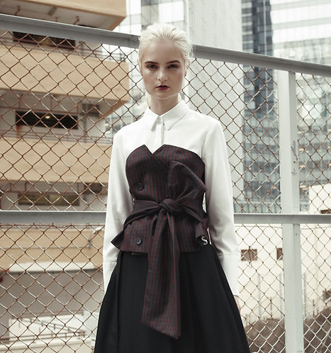 Shirt with removable corset
