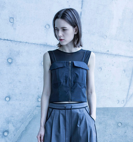 Strap top with vest