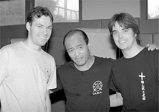 Steve Hyatt with Dan Inosanto and Brian Benaissa