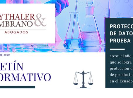 Sobre la protección de datos de prueba Ipso Jure en el Ecuador