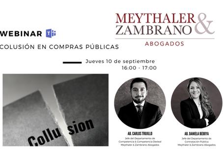 WEBINAR COLUSIÓN EN COMPRAS PÚBLICAS