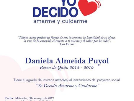 """""""Yo decido amarme y cuidarme"""", Proyecto Reina de Quito 2019."""