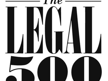 Reconocimiento de Legal 500 de nuestra práctica legal en el área de Propiedad Intelectual