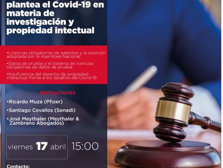 WEBINAR: Desafios legales que plantea el Covid-19 en investigacion y propiedad intelectual
