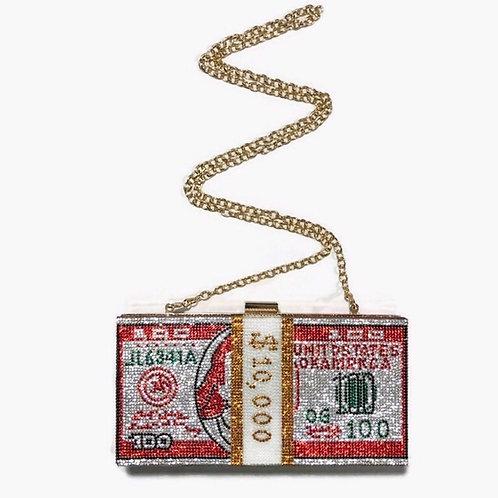 Red Money Clutch