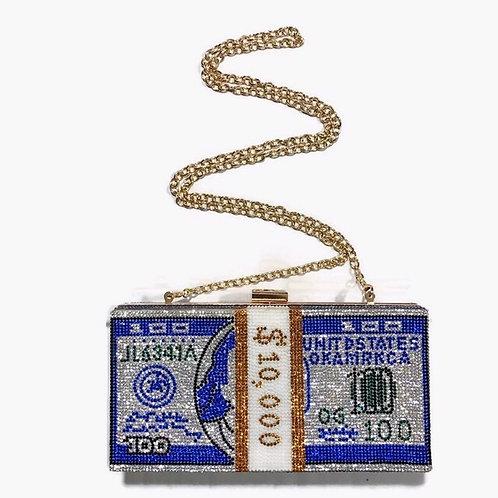 Blue Money Clutch
