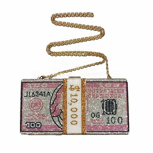 Pink Money Clutch