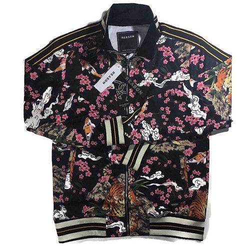 Men flower track jacket