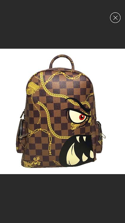 Men Brown Backpack