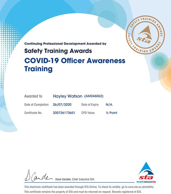 Hayley certificate_Covid-19 awareness.jp