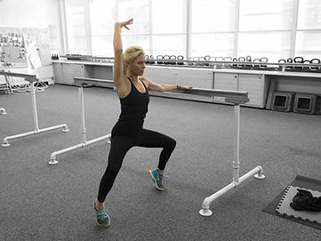 Amy at Amy's Beach Fitness teaches Barre Classes