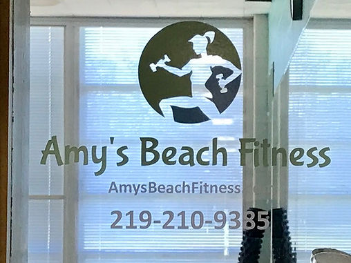 Amy's Beach Fitness Entrance Logo
