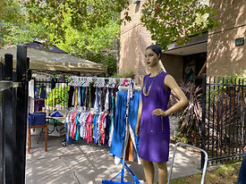 Outdoor set up lifted spirits mannequin.