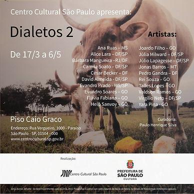 Dialetos 2, Centro Cultural de São Paulo
