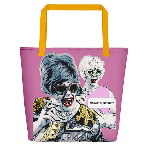 Pink Who Farted Beach Bag