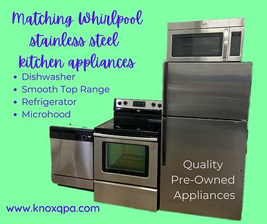Matching stainless steel kitchen applian
