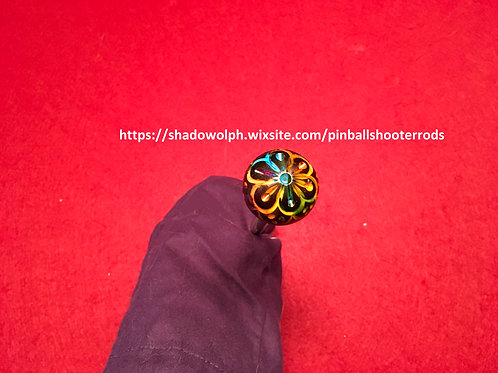 Psychedelic pinball shooter rod for Aerosmith, Farfella, 70's or 80's rock