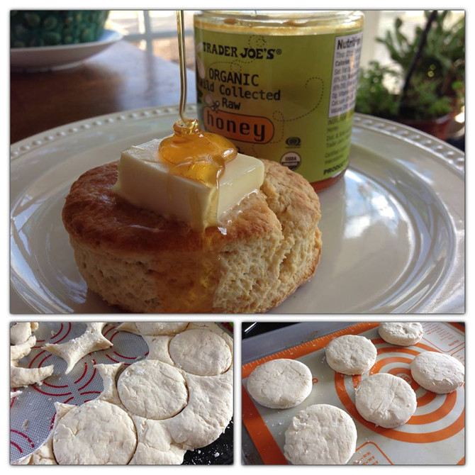 Oh, the comfort in a warm, homemade buttermilk biscuit ...