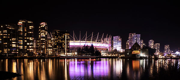 BC Stadium by night, Vancouver by night, cityscape by Juliebenardphotography