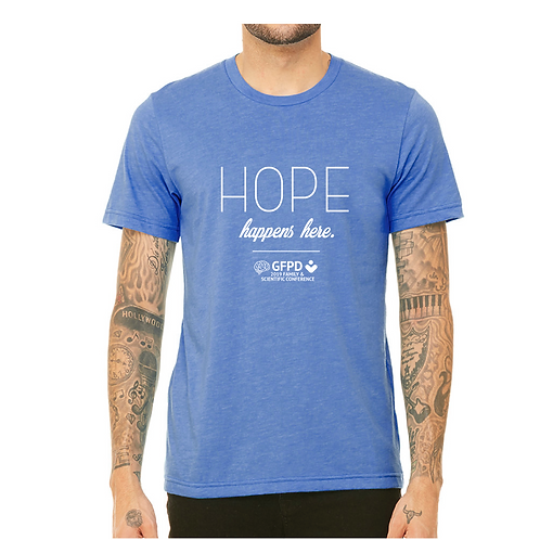 Hope Happens Here T-shirt in Blue