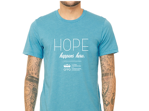 Hope Happens Here T-shirt in Turquoise