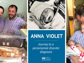 Anna Violet's journey to a peroxisomal disorder diagnosis | GFPD 2020 Patient Ambassador