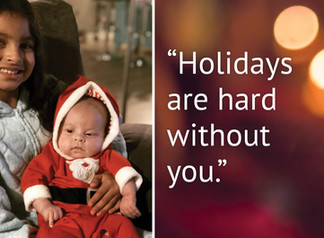 A bereaved mom's thoughts on grief during the Holidays.