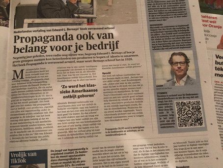 Interview in het AD en Het Parool - 3 november 2019