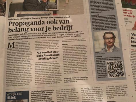 Interview in het AD en Het Parool - 3 november 2019