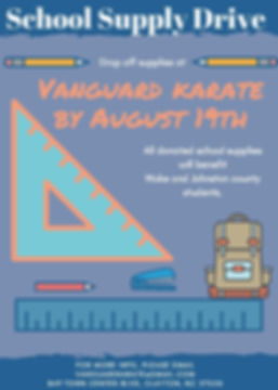School Supply Drive - Vanguard Karate-20