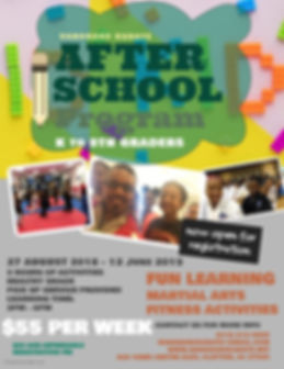 After School Program Flyer -Vanguard Kar