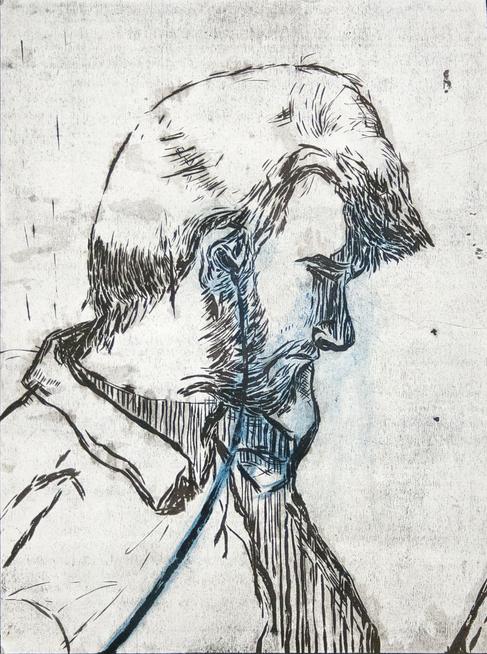 2013 - Woodcut - Charles Profile -02.tif