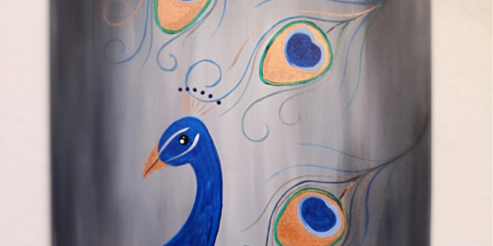 Kids Paint Free at the Carousel!~Metallic Peacock
