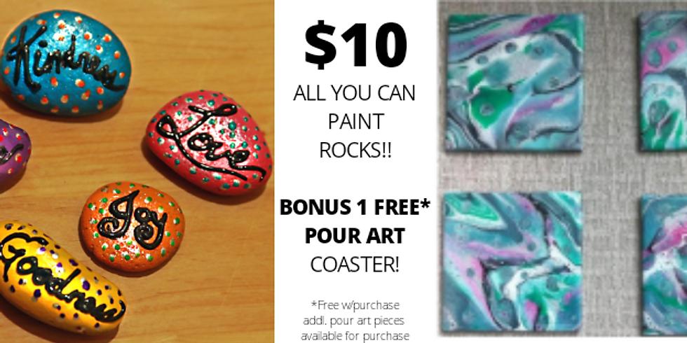 Rock the Carousel + 1 FREE* Bonus Pour Art Coaster!